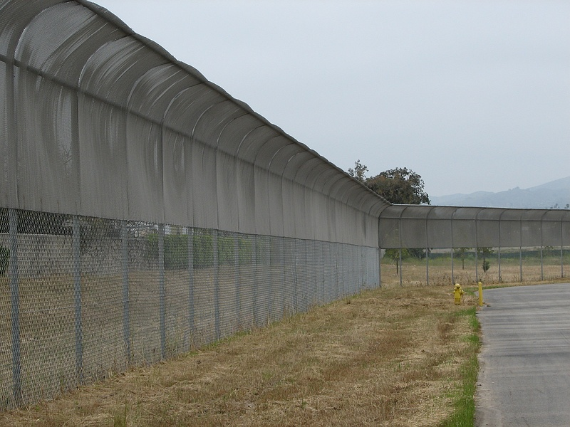 Chain link fence installation c w construction specialties